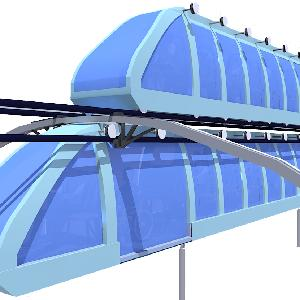 Mini Elevated cTrains (caterpillar trains) - powered by renewable energy