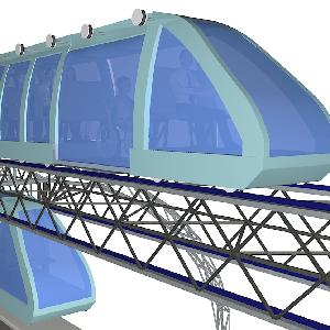 Mini Elevated GreenTrains - complete transit solution - powered by green energy